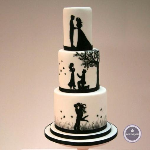 свадебный торт - наша семья