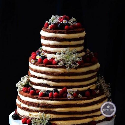 Свадебный торт Ягодная корзина