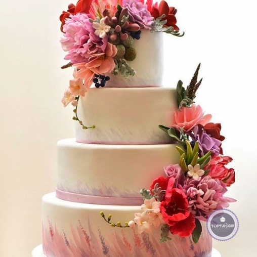торт для женщин пиония