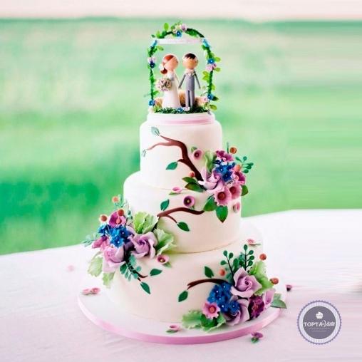 свадебный торт - ласточка