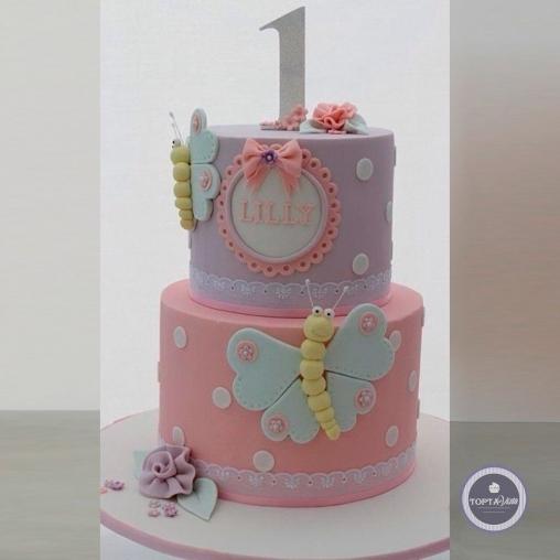 детский торт - мотылёк