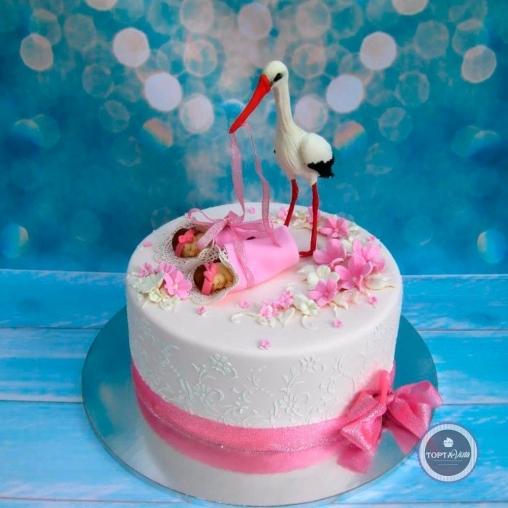 детский торт - близняшки