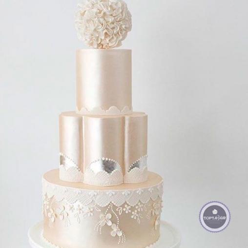 свадебный торт белая звезда