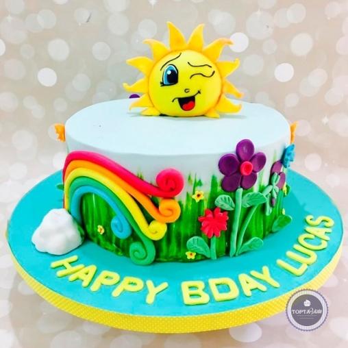 детский торт - летний день