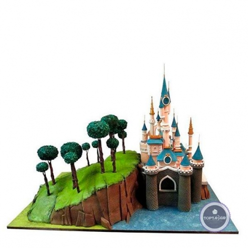 детский торт мой замок