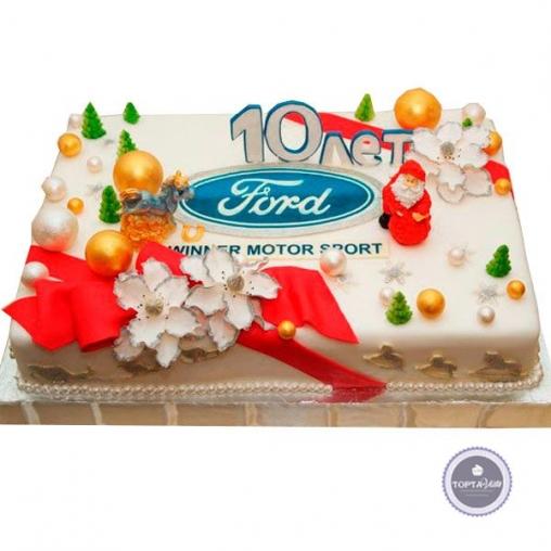 корпоративный торт winter sport