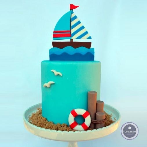 детский торт - океан