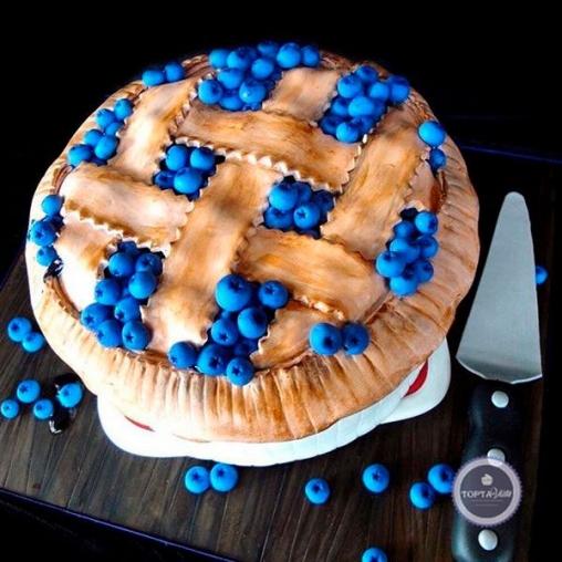 праздничный торт голубичная поляна