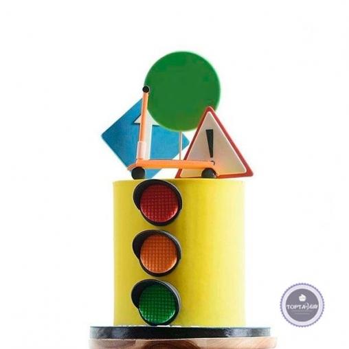 детский торт светофор