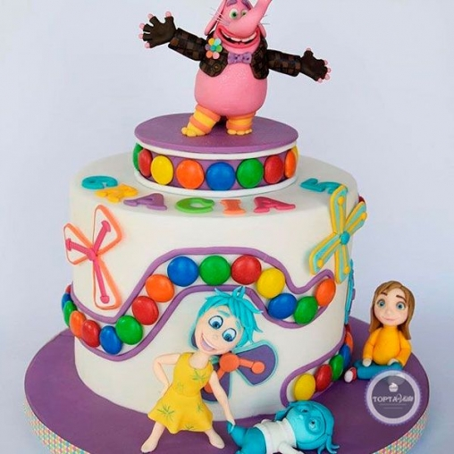 детский торт m & m