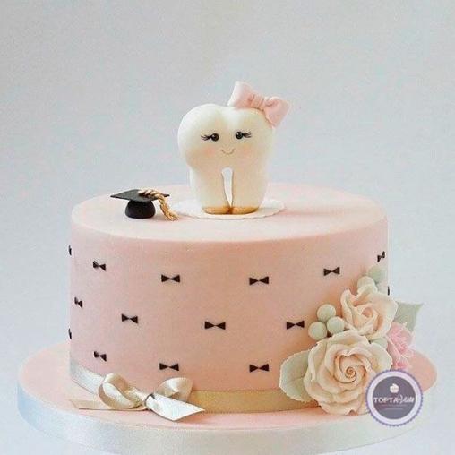 Детский торт Первый зубик