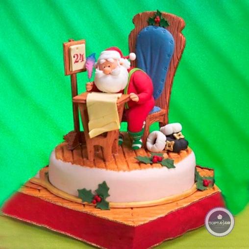 новогодний торт - санта клаус