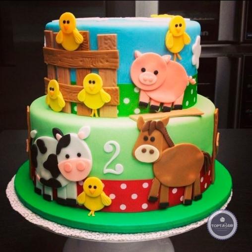 детский торт - веселый двор