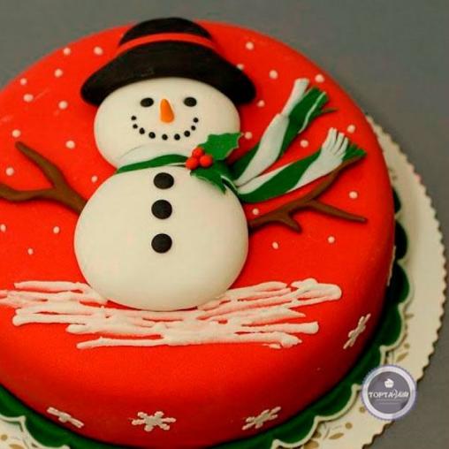 новогодний торт снегошляп