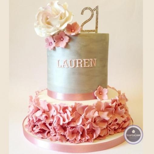 Торт без мастики Лилия