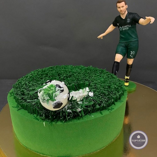 Детский торт - Мяч на поле