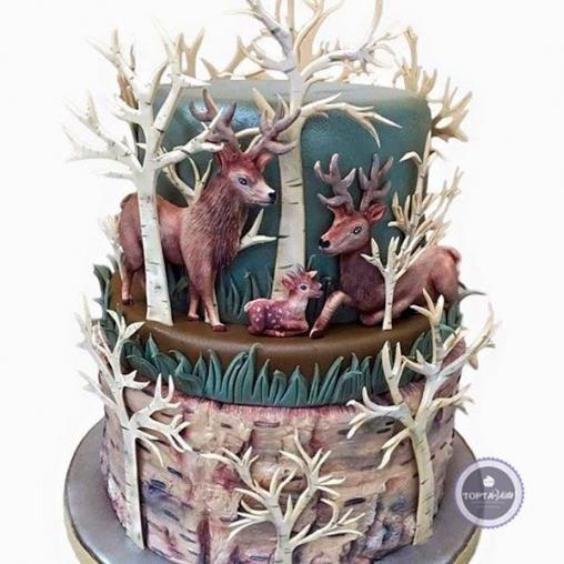 Праздничный торт Оленья страна