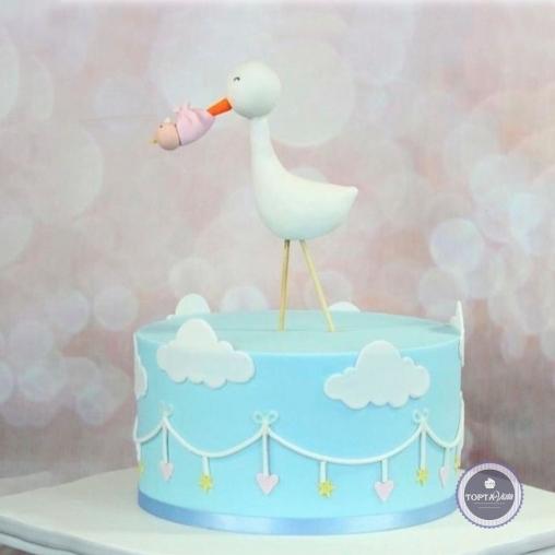 Детский торт - В клюве у аиста
