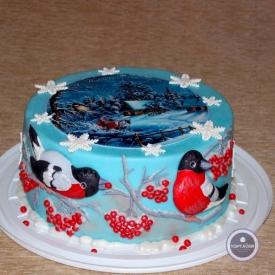 Новогодний торт - Дедушка Мороз
