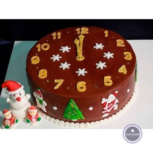 Новогодний торт Шоколадный