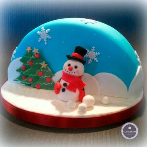 Новогодний торт - Снежный ком