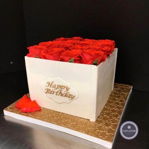 Торт для женщин Розочки