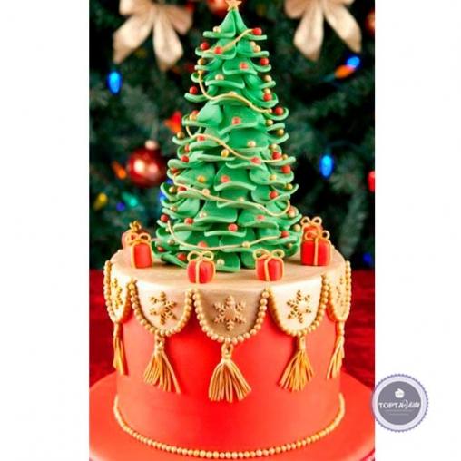 Новогодний торт Ёлка