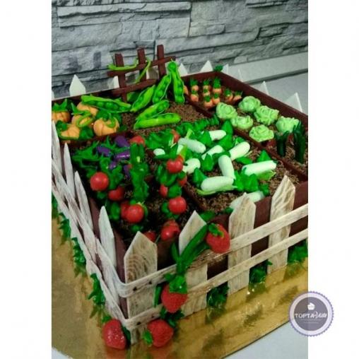Торт для женщин Грядка