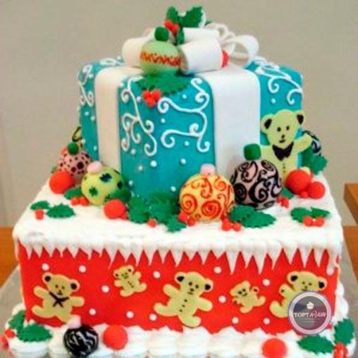 Новогодний торт - Подарок
