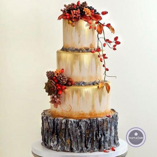 Праздничный торт Золотая осень