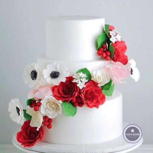 Свадебный торт Полянка