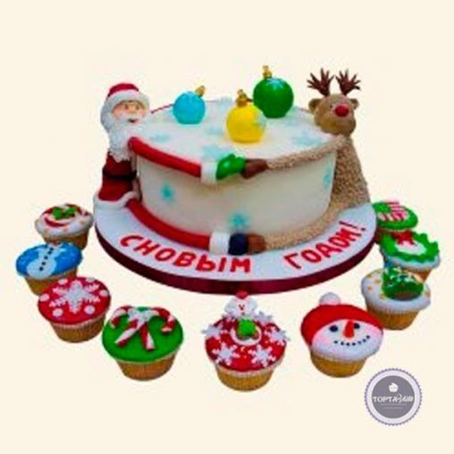 Новогодний торт Встречаем
