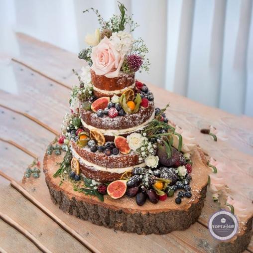 Свадебный торт - Фруктовая поляна
