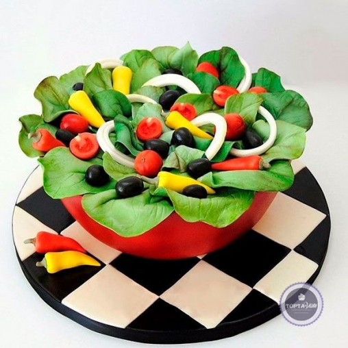 Праздничный торт Овощной салат