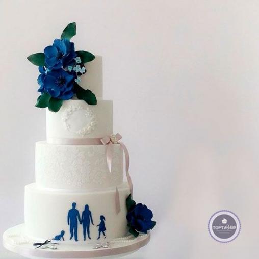 Праздничный торт Вместе всегда