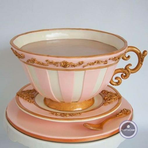 Торт для женщин Розовая чаша