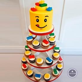 Детский торт - Веселые кексы
