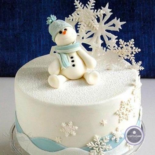 Новогодний торт Снежок