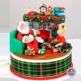 Новогодний торт - Рождественская сказка