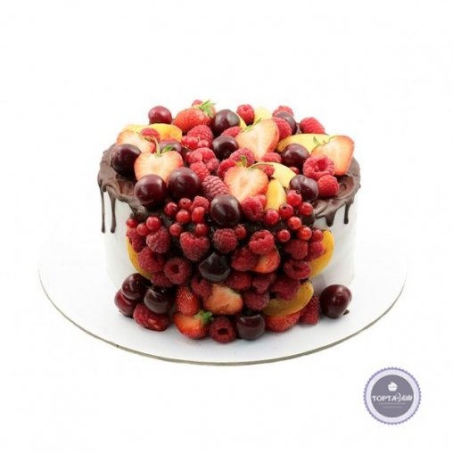 Торт без мастики Ягодное лукошко