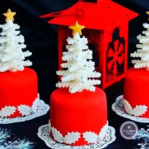 Новогодний торт Ёлочки