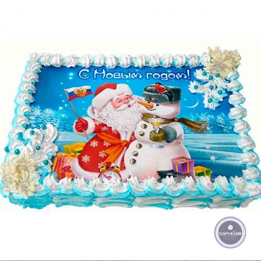 Новогодний торт - Русский Новый год