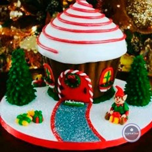 Новогодний торт - Домик