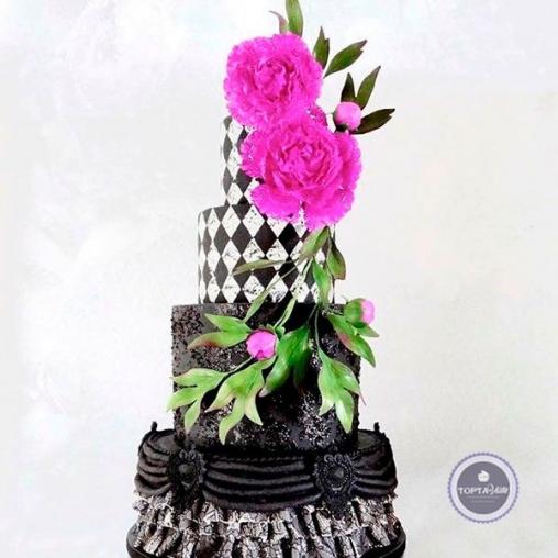 Свадебный торт Пиония