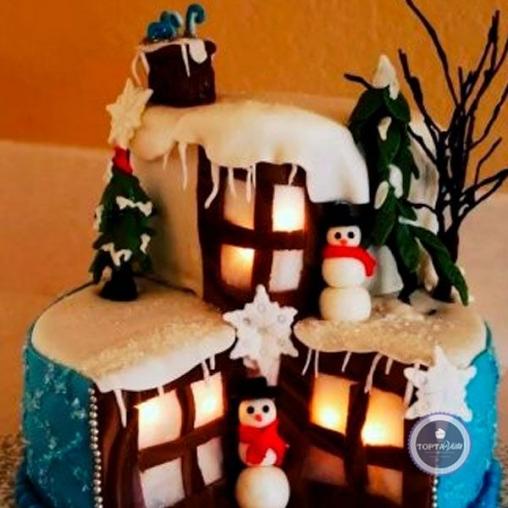 Новогодний торт Новогодний Дом