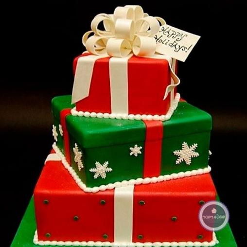 Новогодний торт - Подарки