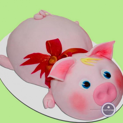 Новогодний торт - Поросёнок