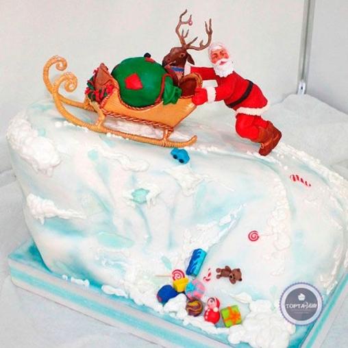 Новогодний торт Санта