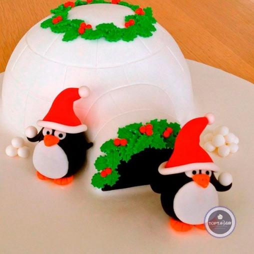 Новогодний торт Пингвинчики