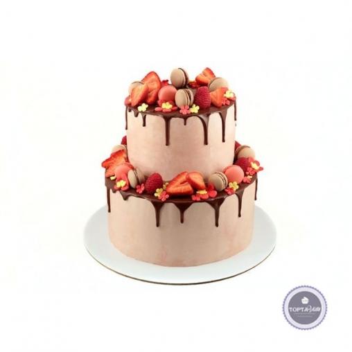 Торт без мастики Ягодный вельвет